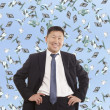 Asian happy businessman — Stock Photo