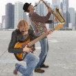 Duo of musicians — Stock Photo