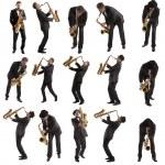 Set Saxophonist — Stock Photo #29152985