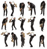 Set Saxophonist — Stock Photo