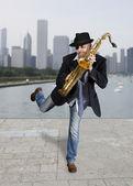 Saxophonist — Stock Photo