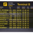 Departures board isolated — Stock Photo #30371017