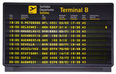 Departures board isolated — Stock Photo
