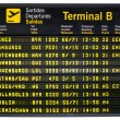 Stock Photo: Departures board isolated