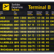 Departures board isolated — Stock Photo #30716961