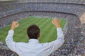 Appassionato di calcio — Foto Stock