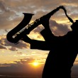 Saxophonist — Stock Photo