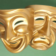Comedy and Tragedy theatrical mask — Stock Photo #34613467