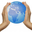 The globe in hands — Stockfoto