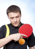 Mann spielen pingpong — Stockfoto