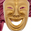 Foto de Stock  : Golden comedy theatrical mask