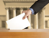 Voting ballot — Stock Photo