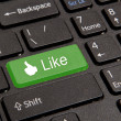 Hot key for facebook — Stock Photo