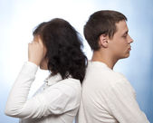 Couple quarreling — Stock Photo