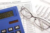 Finance report — Stock Photo