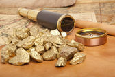 Gold nuggets concept — Stock Photo