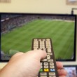 Soccer game on TV — Stock Photo #39819381