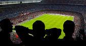 Happy soccer fans — Stock Photo