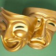 Stock Photo: Comedy and Tragedy theatrical mask
