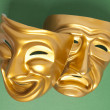Comedy and Tragedy theatrical mask — Stock Photo #40499547