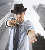 One man gangster — Stock Photo