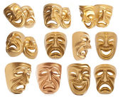 Set of theatrical mask isolated — Stock Photo