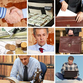Set of image business — Stock Photo