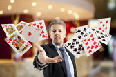 Rroyal flush and full house — Stock Photo