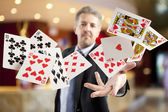 Royal flush and full house — Stock Photo
