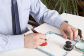 Lawyer, notary — Stock Photo