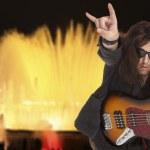 Bassist plays — Stock Photo #45531597