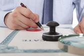 Prawnik, notariusz — Zdjęcie stockowe