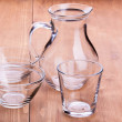 Empty clean glassware — Stock Photo