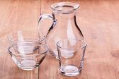 Empty clean glassware — Stock Photo