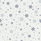 Seamless pattern with beautiful gray flowers — Stock Vector