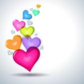 Heart symbols Valentine day — Stock Vector