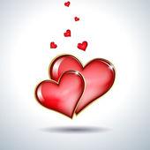 Red hearts — Vector de stock
