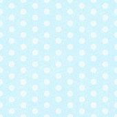 Blue Polka Dot Fabric Background — Stock Vector