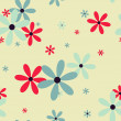 Seamless pattern with beautiful  flowers — Stock Vector
