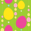 Colorful easter seamless background — Stock Vector