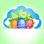 Easter label — Stock Vector