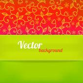 緑と赤の色で明るい背景。ベクトル イラスト — ストックベクタ