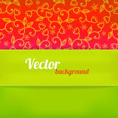 Hellen hintergrund in grüner und roter farbe. vektor-illustration — Stockvektor