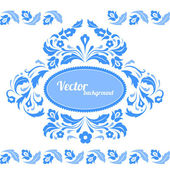 Bluel floral pattern — Stock Vector