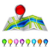 Icon vector map of the city — Stock Vector