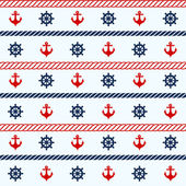 Seamless pattern with nautical elements — Stock Vector