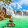Dry Nur waterfall — Stock Photo