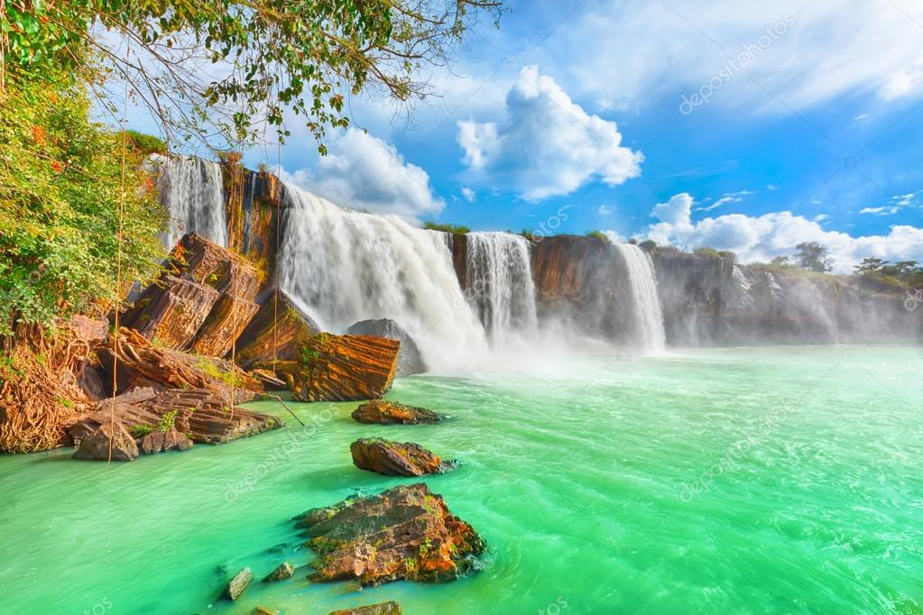 Beautiful Dry Nur waterfall in Vietnam.   Stock Photo #12645071