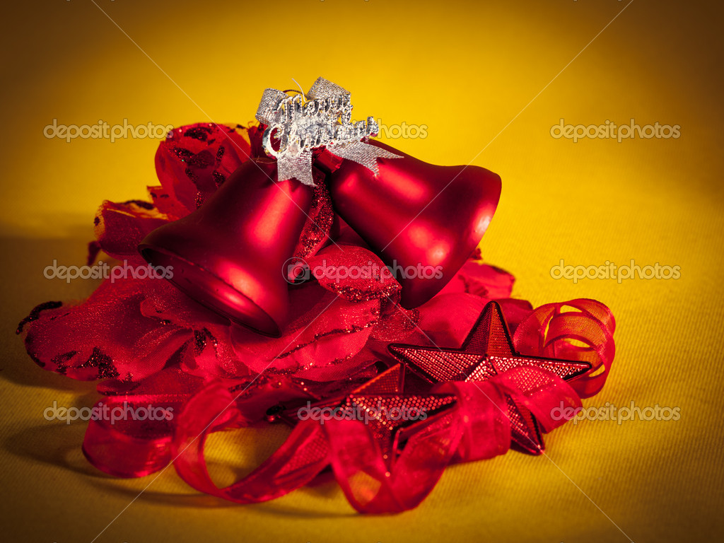 Christmas decorations on abstract background — Stock Photo #16806669