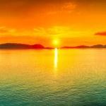 Sunset panorama — Stock Photo